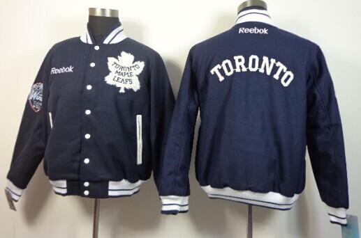 Toronto Maple Leafs Blank Navy Blue Jacket