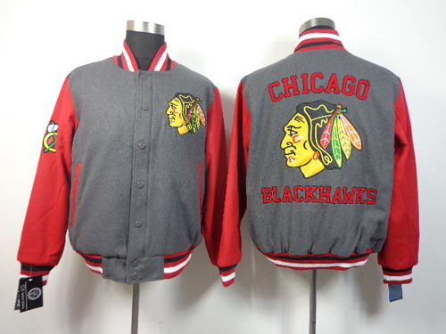 Chicago Blackhawks Blank Gray Jacket