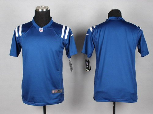 Nike Indianapolis Colts Blank Blue Game Kids Jersey