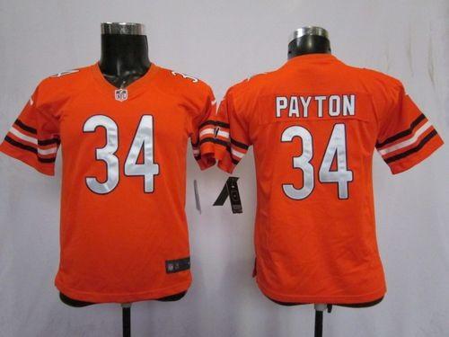 Nike Chicago Bears #34 Walter Payton Orange Toddlers Jersey