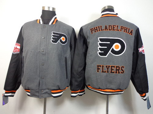 Philadelphia Flyers Blank Gray Jacket