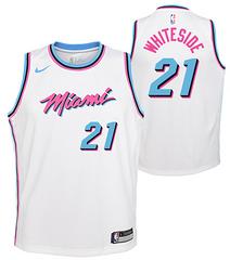 Nike Heat #21 Hassan Whiteside White NBA Swingman City Edition Jersey